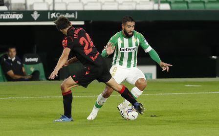 Fekir, en el partido entre el Betis y la Real Sociedad del Villamarín.