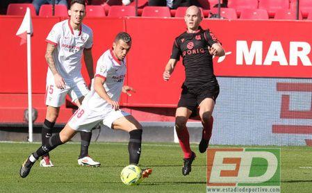 Jordán, durante el partido contra la Real Sociedad.