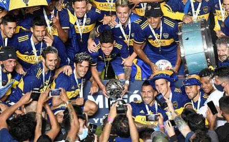 Boca Juniors derrotó a Banfield por penaltis y se coronó bicampeón.