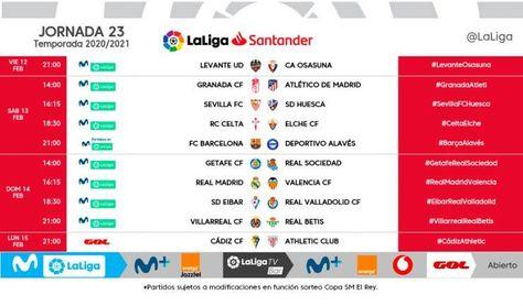 Horarios confirmados para el Sevilla-Huesca y el Villarreal-Betis