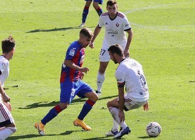 El Eibar nunca ha vencido a Osasuna en Primera