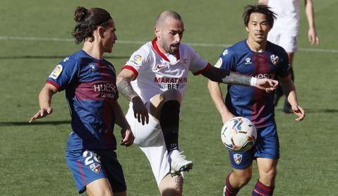 1-0. Munir y Bono dan el triunfo al Sevilla ante un osado Huesca