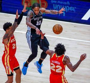 114-125. DeRozan y Spurs superan fácilmente a Hawks