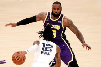 115-105: James y Davis despiertan a tiempo a los Lakers ante los Grizzlies