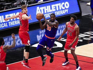 123-112. Randle anota 44 puntos y Knicks logran tercer triunfo seguido