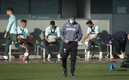 Víctor Ruiz, ausente en la última sesión antes del Betis-Getafe