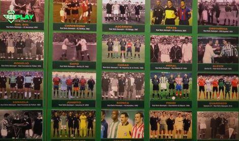 Homenaje en el corazón del Betis a sus futbolistas, capitanes y entrenadores