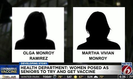 Detenidas por disfrazarse de abuelas para vacunarse contra la Covid-19