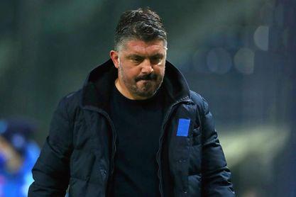 """Gattuso: """"Pasamos por un momento feo, por resultados y lesiones"""""""