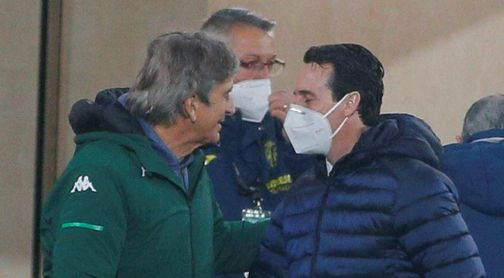 Manuel Pellegrini, entrenador del Betis, y Unai Emery, técnico del Villarreal.