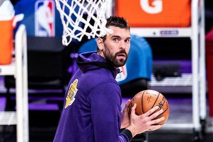 Marc Gasol, baja en los Lakers por el protocolo del coronavirus