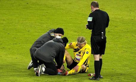 Haaland, lesionado en el tobillo derecho