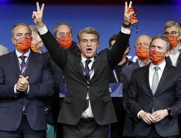Laporta, nuevo presidente del FC Barcelona con el 54% de los votos