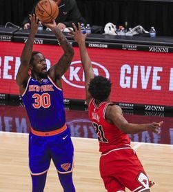 97-119. Randle y los Knicks remontan y vencen a los Thunder