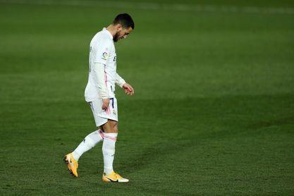 Hazard continúa su rehabilitación en Madrid tras la concentración con Bélgica