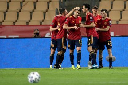 3-1. España disipa dudas y endereza el rumbo hacia Catar 2022