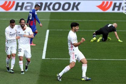 """Asensio: """"Están entrando los goles, antes daban en el palo""""."""