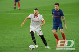 Jordán fue clave para que el Sevilla FC sorteara la presión alta del Atlético.