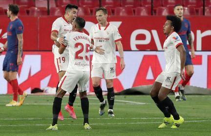 1-0. El Sevilla muestra las carencias del Atlético y aprieta LaLiga