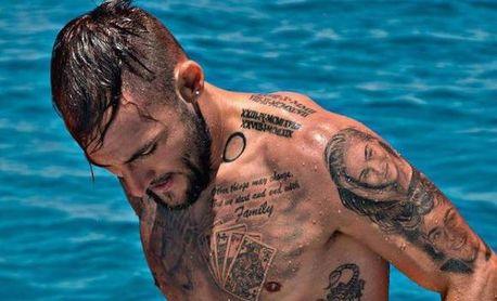 Gudelj y el mapa de su piel: el significado de sus tatuajes