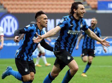 """El Inter, con pase ganador de Achraf, sigue volando hacia el """"Scudetto"""""""