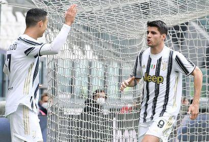 El Juventus, con gol de Morata, refuerza su plaza en Liga de Campeones