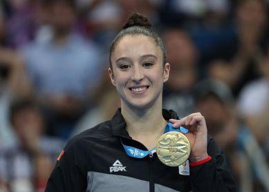 La gimnasta Nina Derwael no competirá en el Europeo de Artística por lesión