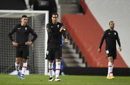 2-0. El Granada deja de soñar en Old Trafford