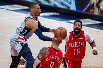 117-115. Ante los Pelicans, los Wizards vuelven a ganar guiados por Westbrook y Beal