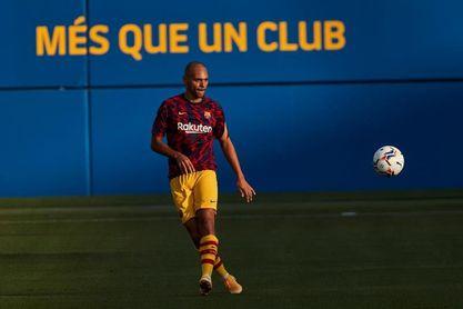 Braithwaite se lesiona en el entrenamiento del Barcelona