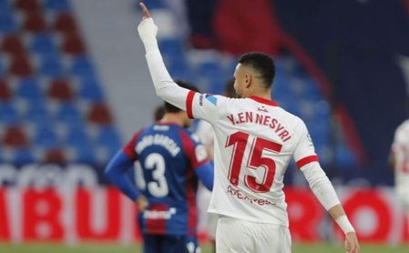 """""""En-Nesyri es muy oportunista; se ha beneficiado del juego del Sevilla""""."""