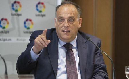 """Tebas: """"La amenaza de la Superliga se acabó para mucho tiempo""""."""