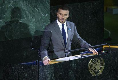 El exfutbolista David Beckham, la cara de la campaña de vacunación de la ONU