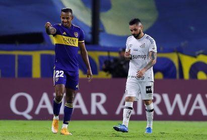2-0. Boca vence al Santos gracias a un inoxidable Tevez y al colombiano Villa