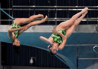 México hace pleno con su plaza olímpica en plataforma sincronizada de mujeres