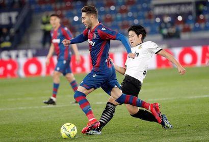 Kang In salvó al Valencia en el último minuto anterior visita del Valladolid