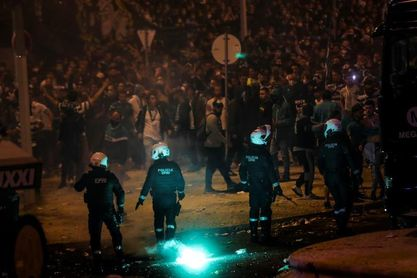 Enfrentamientos entre simpatizantes del Sporting y la policía en Lisboa