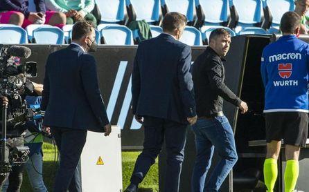 """Coudet se marcha enfadado con el árbitro y con """"errores que metieron al Betis en el partido"""""""