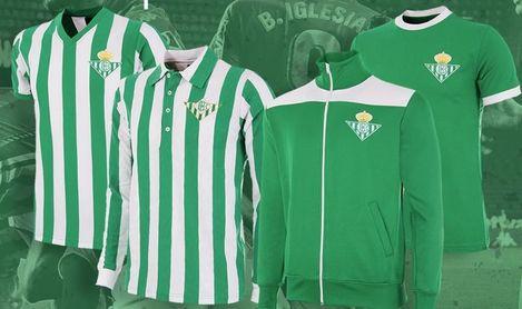 El Betis se suma a la moda 'vintage' con su nueva línea de camisetas reto