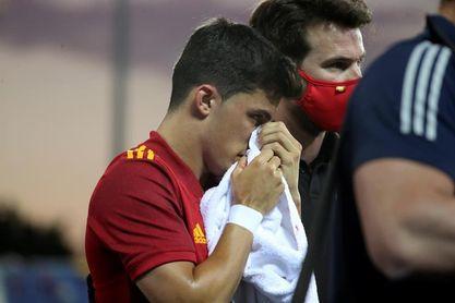 Manu García, posible fractura en la nariz