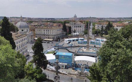 Roma se viste de gala para la apertura de la Eurocopa
