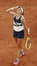 Krejcikova funde a Sakkari para jugar su primera final de un grande