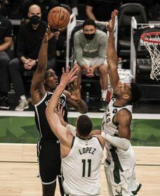 107-96. Antetokounmpo reivindica ser MVP y Bucks empatan serie ante Nets