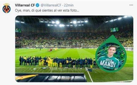 La particular fórmula del Villarreal de anunciar el fichaje de Mandi.