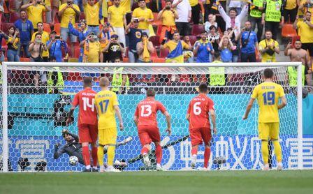 2-1: Ucrania fantaseó con la goleada y acabó dando gracias por ganar