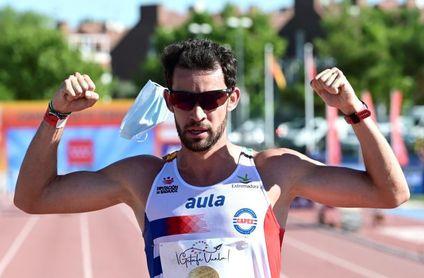 Álvaro Martín pentacampeón de España de 10.000 m marcha