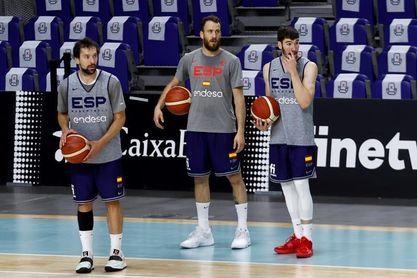 Entrenamiento de la selección de baloncesto