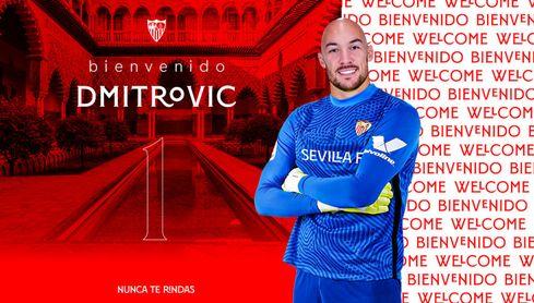 OFICIAL: Dmitrovic, nuevo portero del Sevilla FC hasta 2025.