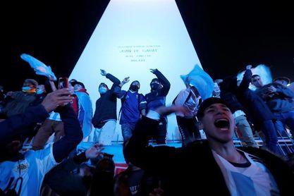 Con epicentro en el Obelisco porteño, Argentina celebró el título de América