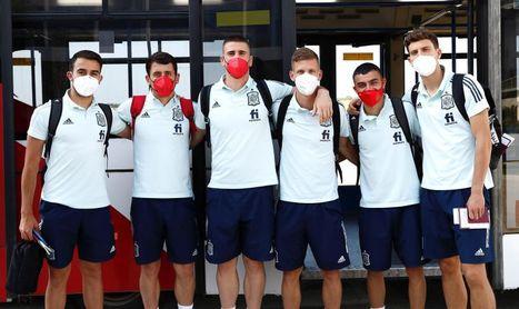 Salida de la Selección española a Japón